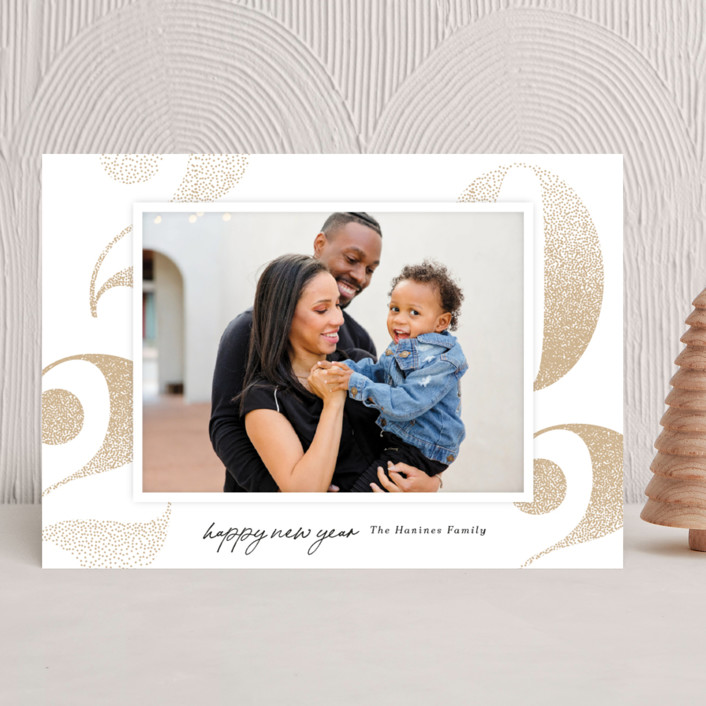"""Bubbled Up"" - New Year Photo Cards in Pinecone by Kaydi Bishop."