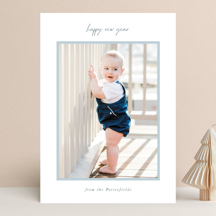 """""""simply styled"""" - New Year Photo Cards in Sky by Sara Hicks Malone."""