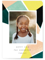 This is a green new year photo card by Baumbirdy called Playful Year with standard printing on smooth signature in standard.
