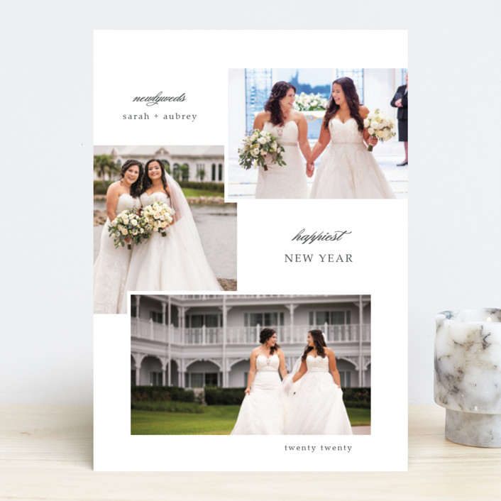 """newlywed"" - New Year Photo Cards in Pearl by Summer Winkelman."