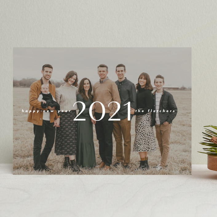 """""""smoke"""" - New Year Photo Cards in Ash by Ink and Letter."""