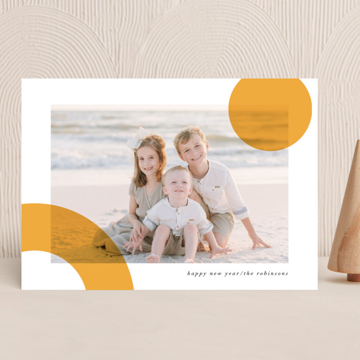 """""""Bright Shapes"""" - Modern New Year Photo Cards in Sunshine by Iveta Angelova."""