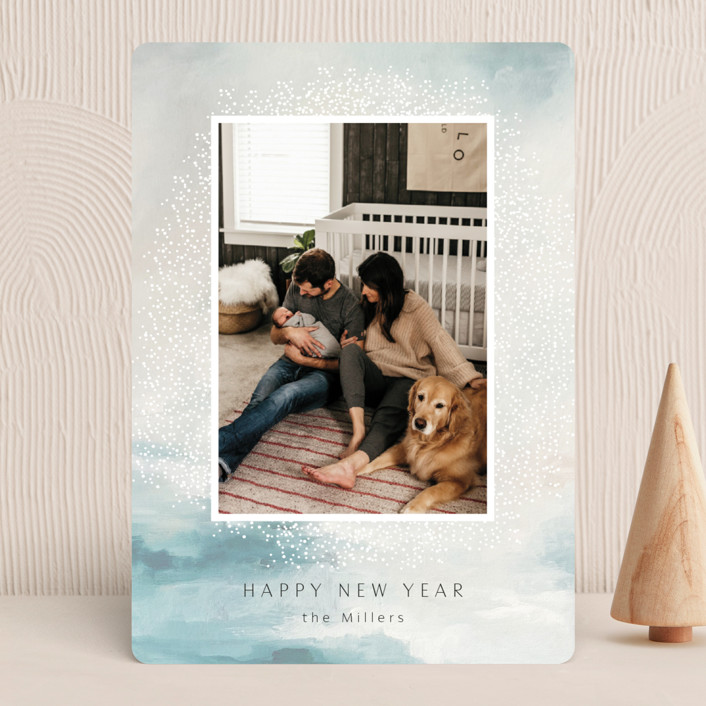 """""""divine"""" - New Year Photo Cards in Azure by Nicoletta Savod."""