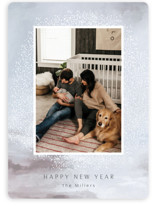 This is a blue new year photo card by Nicoletta Savod called divine with standard printing on smooth signature in standard.