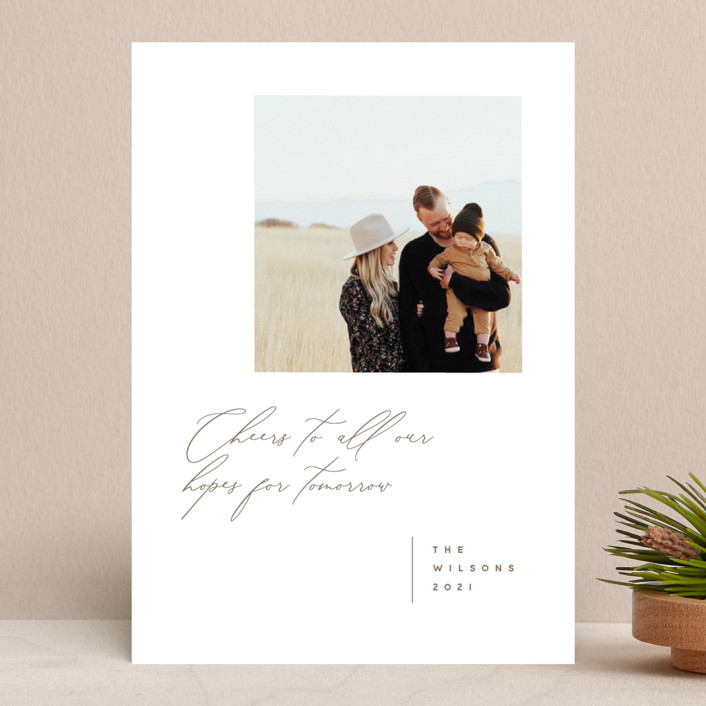 """""""New Tomorrows"""" - New Year Photo Cards in Fawn by Susan Brown."""