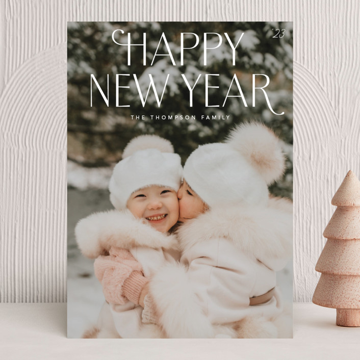 """""""Charleston"""" - New Year Photo Cards in Snow by Robert and Stella."""