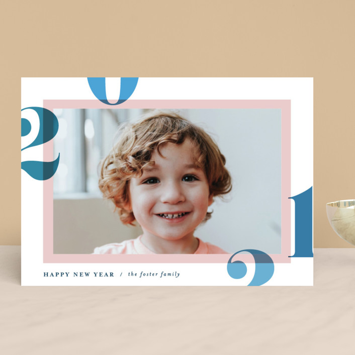 """Bright and Bold Year"" - New Year Photo Cards in Sunrise by Pixel and Hank."