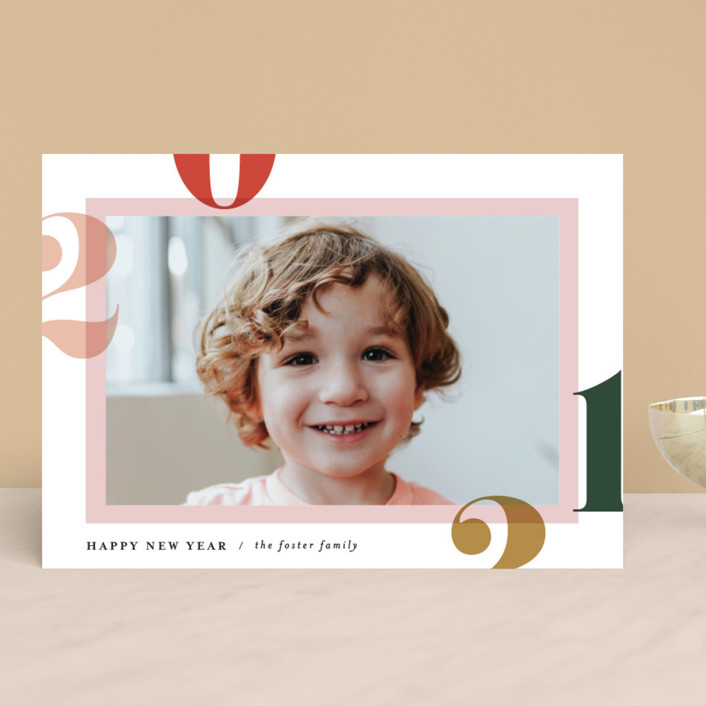 """""""Bright and Bold Year"""" - New Year Photo Cards in Confetti by Pixel and Hank."""