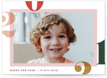 This is a colorful new year photo card by Pixel and Hank called Bright and Bold Year with standard printing on smooth signature in standard.