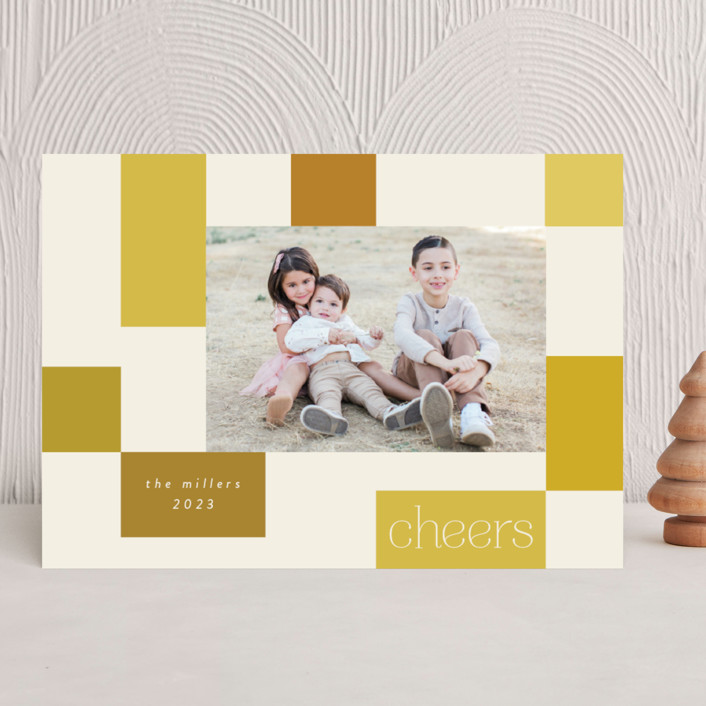 """""""Checkerboard"""" - New Year Photo Cards in Sunshine by Morgan Kendall."""