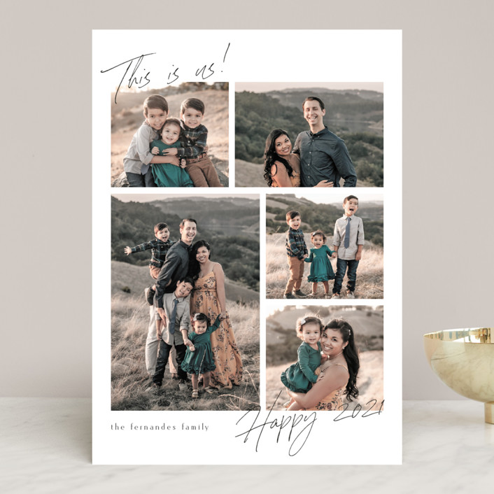 """""""This is Us 2021"""" - New Year Photo Cards in Raven by Chris Griffith."""