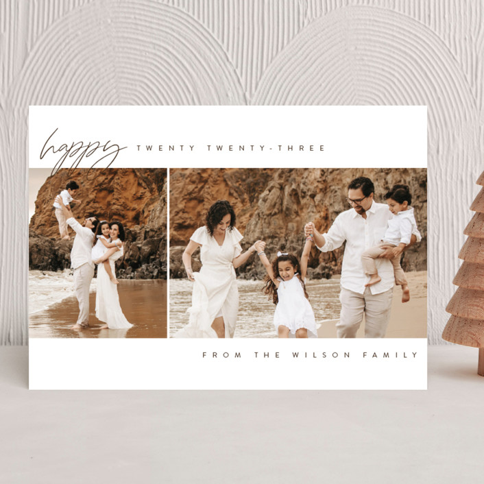 """happy year"" - New Year Photo Cards in Snow by Kasia Labocki."
