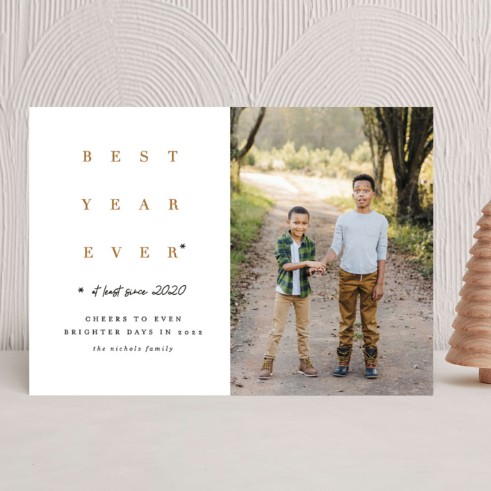 """""""Whatever!"""" - Funny New Year Photo Cards in Wheat by Erica Krystek."""