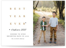 This is a gold new year photo card by Erica Krystek called Whatever! with standard printing on smooth signature in standard.