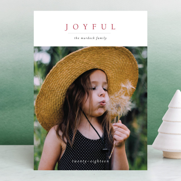 """Minimal Joy"" - New Year Photo Cards in Coal by Nikkol Christiansen."