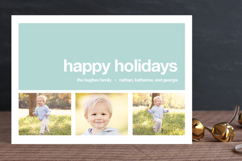 Modern Joy New Year Photo Cards