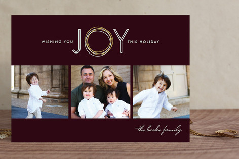 Rings of Joy New Year Photo Cards