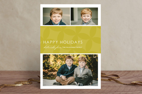 Mod Pattern New Year Photo Cards