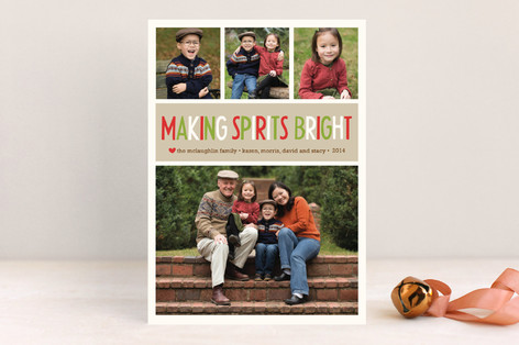 Making Spirits Bright New Year Photo Cards