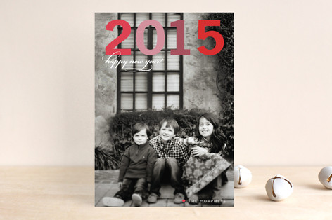 Big Year New Year Photo Cards