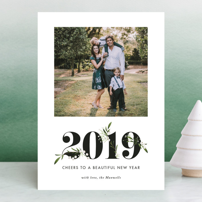 """Adorned Year"" - New Year Photo Cards in Tuxedo by Jennifer Postorino."