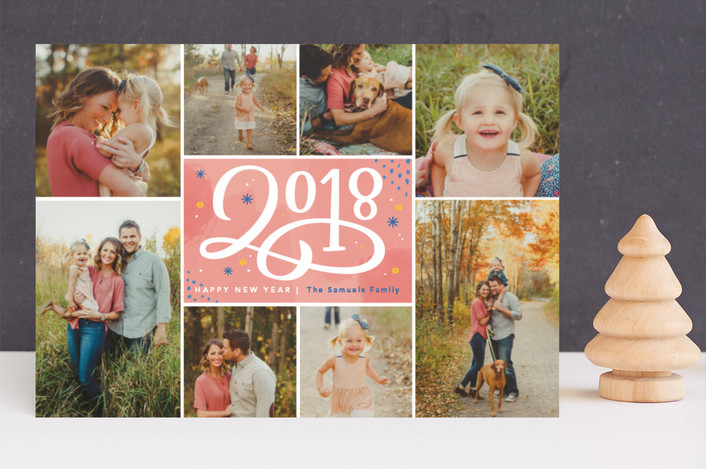 """Scripted 2018"" - New Year Photo Cards in Gum Drops by Kristen Smith."