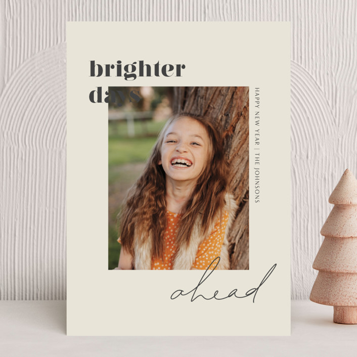 """""""Brighter Days Ahead"""" - New Year Photo Cards in Mist by seulghi."""