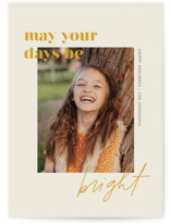 This is a yellow new year photo card by seulghi called Brighter Days Ahead with standard printing on smooth signature in standard.