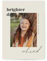 This is a grey new year photo card by seulghi called Brighter Days Ahead with standard printing on smooth signature in standard.