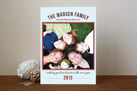 Holiday Love New Year Photo Cards