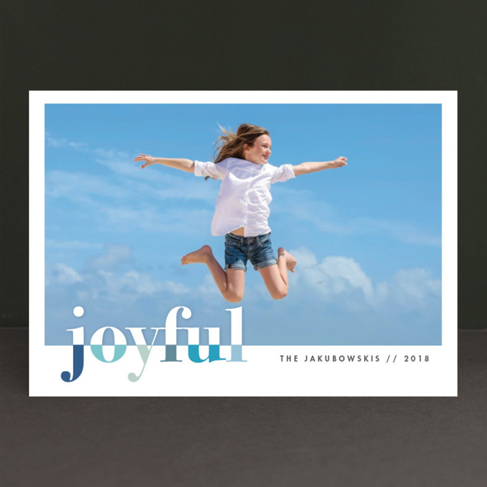 """""""bountiful joy"""" - Modern New Year Photo Cards in Ocean by Snow and Ivy."""