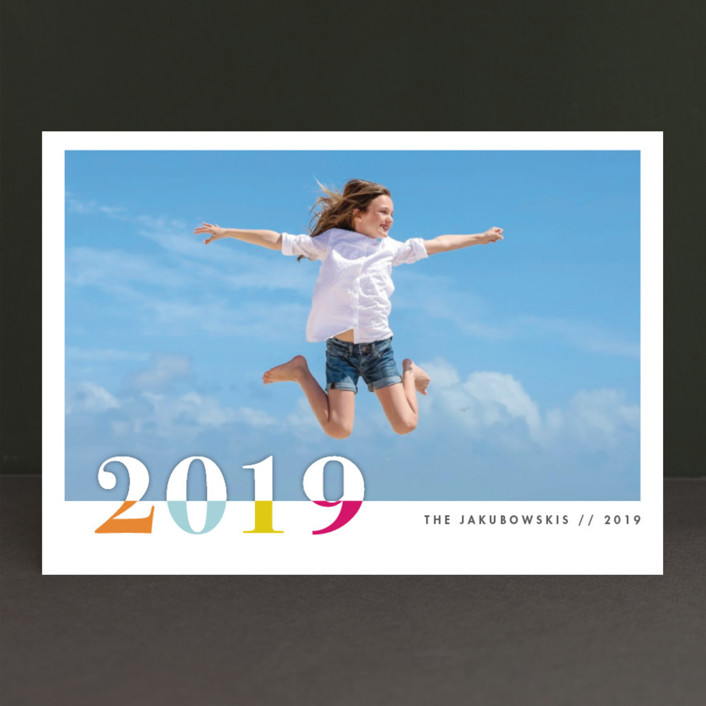 """bountiful joy"" - Modern New Year Photo Cards in Fete by Snow and Ivy."