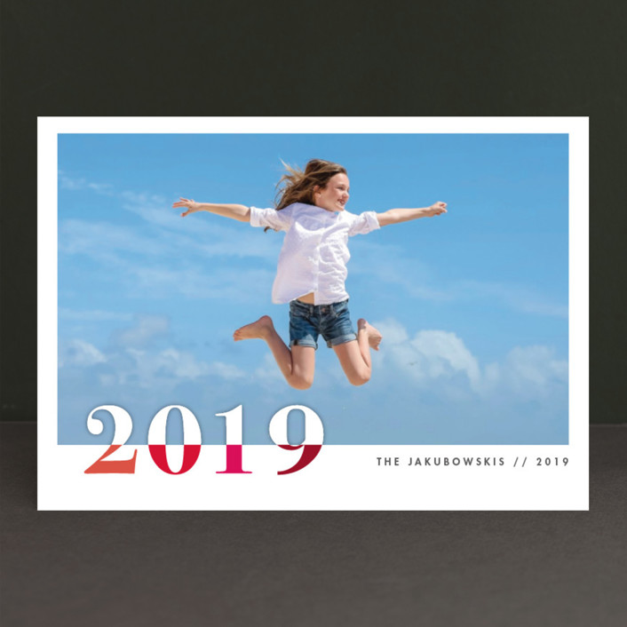 """""""bountiful joy"""" - Modern New Year Photo Cards in Fete by Snow and Ivy."""
