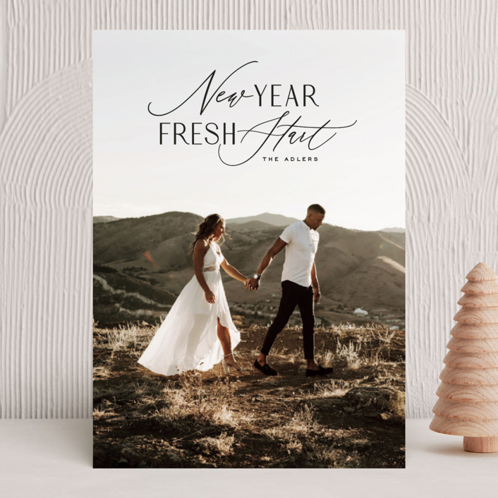 """""""New Year Fresh Start"""" - New Year Photo Cards in Onyx by Hooray Creative."""