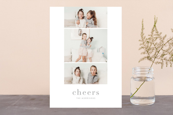 """Grace"" - New Year Photo Cards in Moon by Jessica Maslyn."
