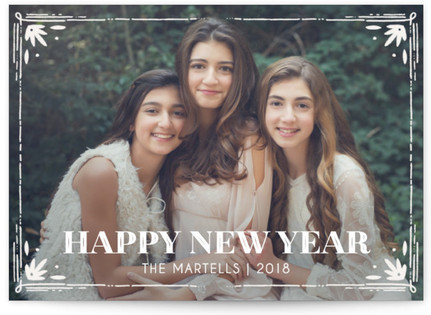 Filigree New Year's Photo Cards