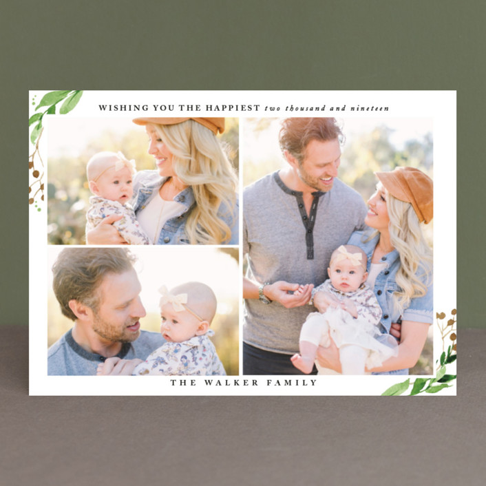 """wishing you the happiest"" - New Year Photo Cards in Coal by frances."