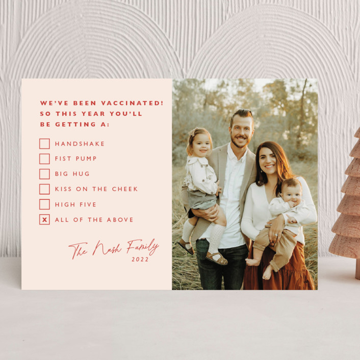 """""""All of the Above"""" - Funny New Year Photo Cards in Candy by Caitlin Considine."""