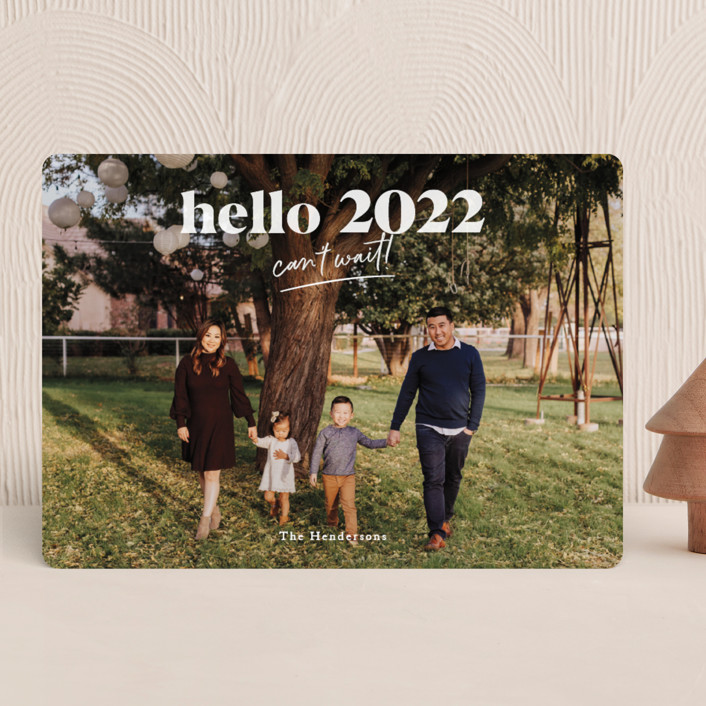 """""""can't wait 2021"""" - New Year Photo Cards in Snow by Aspacia Kusulas."""