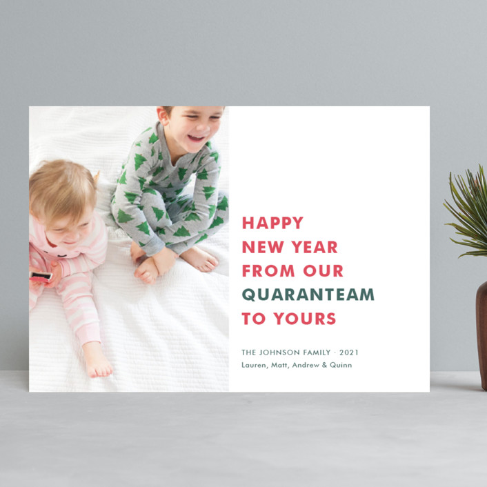 """""""The Quaranteam"""" - Funny New Year Photo Cards in Stocking by Toast & Laurel."""