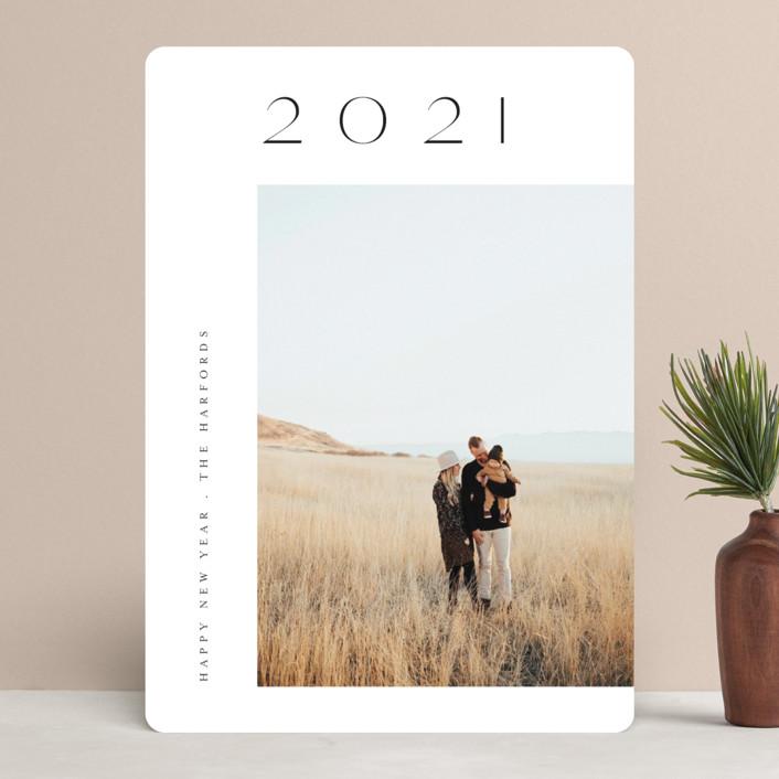"""Gilded Year"" - New Year Photo Cards in Ebony by Angela Thompson."