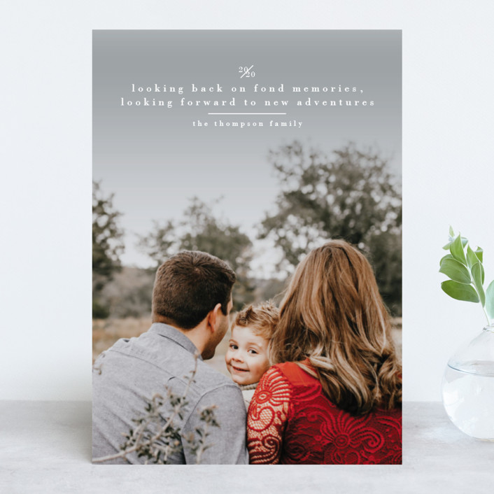 """""""Looking"""" - New Year Photo Cards in Cloud by Ashlee Townsend."""