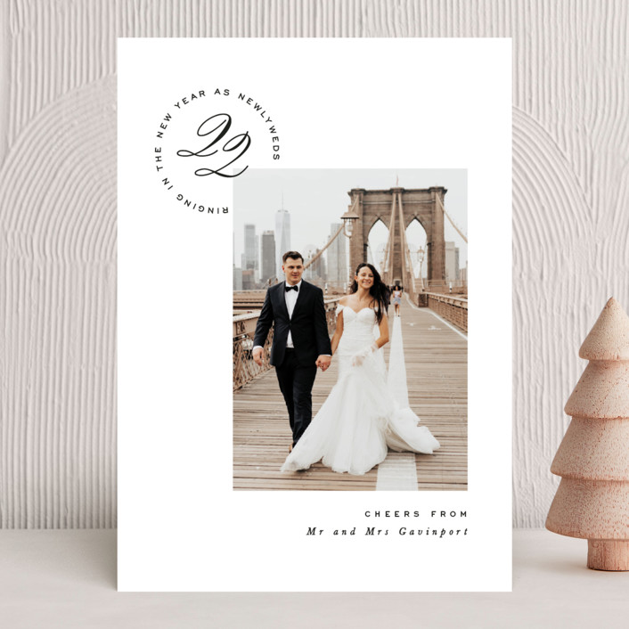 """""""New Couple"""" - New Year Photo Cards in Onyx by Hooray Creative."""