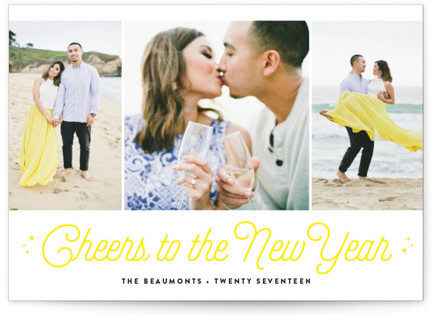 Cheers! New Year's Photo Cards