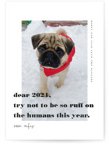 This is a black new year photo card by Tanya Lee of Frooted Design called dear 2021 with standard printing on smooth signature in standard.