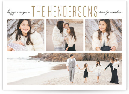 Family New Year's Photo Cards