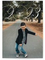 This is a brown new year photo card by Monika Drachal called Looking Ahead with standard printing on triplethick in standard.