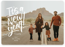 This is a white new year photo card by Amy Payne called Finally a New Year with standard printing on smooth signature in standard.