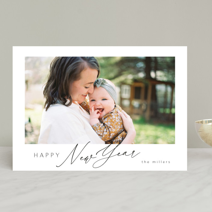 """""""Pure"""" - New Year Photo Cards in Snow by Nicoletta Savod."""