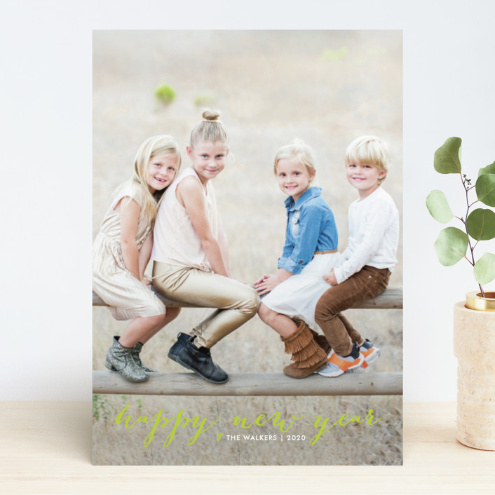 """""""Simple Joy"""" - New Year Photo Cards in Snow by Fig and Cotton."""